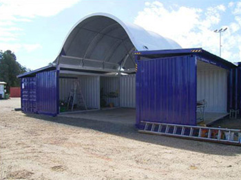 Container Shelter Storage Cover