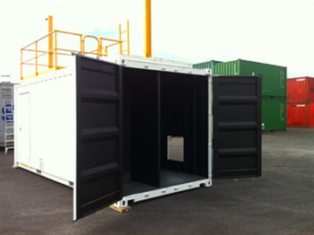 Training Container double doors