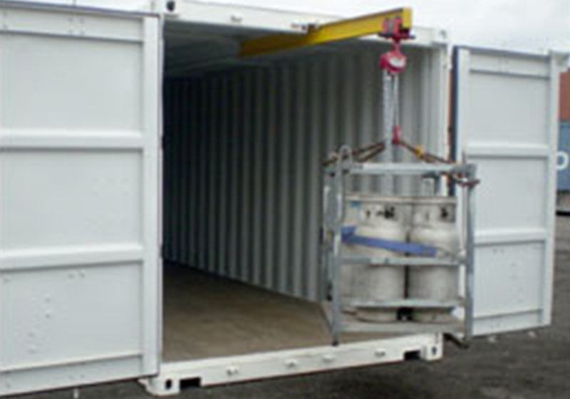 Container with Gantry System