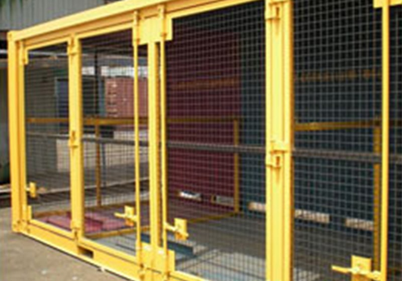 Rolling Door and mesh partition