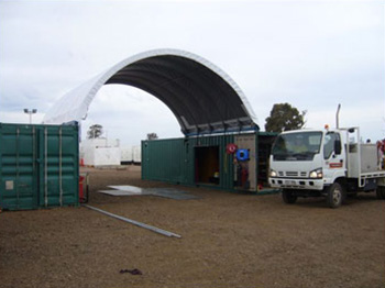 Container Shelter Cover Roof