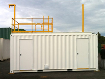 Training Container side PA doors