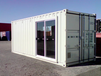 Site Office with sliding door