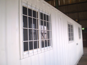 Site Office Windows with security grill