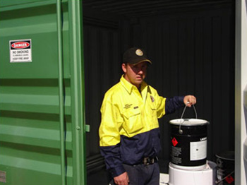 Dangerous Goods Container Storage
