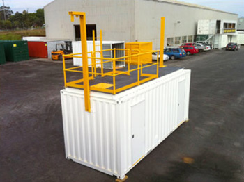 Training Container top platform